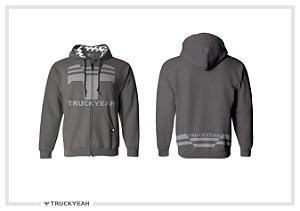 Jaqueta Moleton Ziper Capuz Truckyeah Estampada Grey (Masculino)