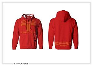 Jaqueta Moleton Ziper Capuz Truckyeah Estampada Red (Feminino)