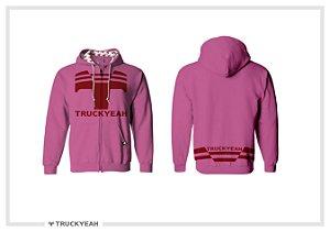 Jaqueta Moleton Ziper Capuz Truckyeah Estampada Rose (Feminino)