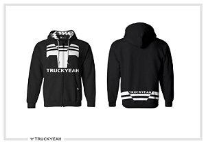 Jaqueta Moleton Ziper Capuz Truckyeah Estampada Black (Masculino)