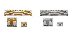 Combo - Adesivos Refletivos Truckyeah Gold kit 6 Adesivos