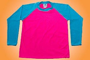 Camisa UV - Azul e Rosa