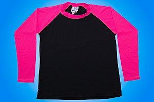 Camisa UV - Preta e Rosa