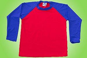 Camisa UV - Vermelha e Azul