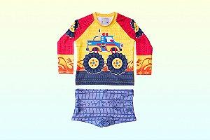 Camisa UV + Sunga - Carros