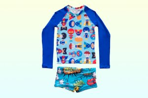 Camisa UV + Sunga - Heróis