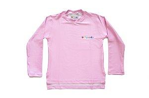 Camisa UV - Rosa Bebê