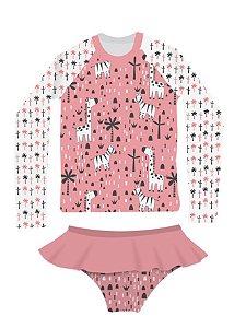 Camisa UV + Calcinha - Zebra e Girafa
