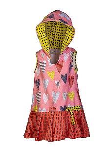 Vestido Toalha - Corações Poá