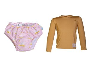 Camisa UV + Biquíni Fralda - Cisne