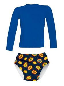 Camisa UV + Sunga Fralda - Heróis