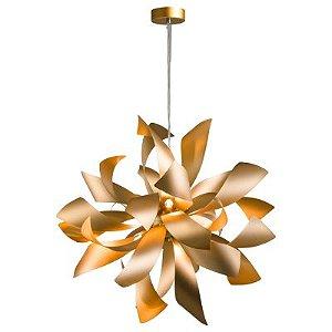 Pendente Atmo Bella Dourado Fosco para 6 Lâmpadas G9 - RE001G