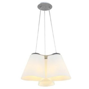 Lustre Tri Em Vidro E Metal Zd001w - Bella