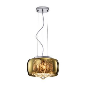 Plafon, Bella Iluminação, Soho PD005G, Cromado/ Dourado/ Transparente
