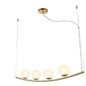 Pendente Bella HP002 Oscar 4L G9 Bipino 12x100x17cm Dourado