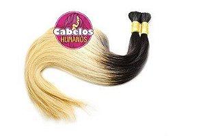 Cabelo Humano Premium Liso Ombré Hair 60 65 cm 50grs