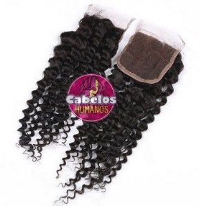 Top Closure Lace Cacheada Humana 30 35 cm