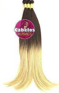 Cabelo Humano Premium Ombré Hair Chocolate Escuro / Loiro Claro 50 55 cm 50 grs