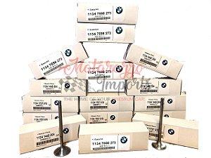 Válvula de Admissão e Escape BMW N20 X1 X3 X4 X2 120I 118I 316I 320I 325I 335I 520I 528I 420I 428I Z4 - 2.0 16V GASOLINA/FLEX - 11347583777 11347598273