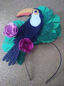 Tiara de Carnaval de tucano luxo toda em EVA.