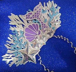 Tiara de Carnaval de Sereia Clássica toda em EVA.