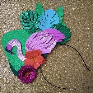 Tiara de Carnaval de Flamingo toda em EVA.