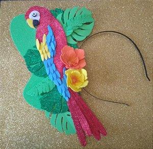 Tiara de Carnaval de Arara luxo toda em EVA.