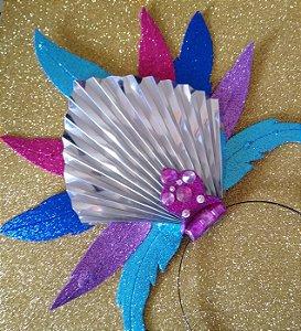 Tiara de Carnaval Penas luxo toda em EVA
