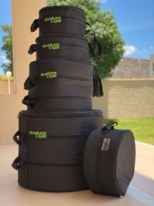 "KIT HARD BAG TRADICIONAL. 12, 13, 14, 16, 22"" + 1 Bag Para Baquetas."
