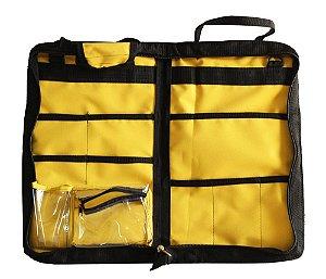 BAG LUXO em Nylon para 20 pares de Baquetas - Amarelo.
