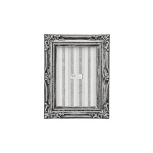 Porta Retrato Retangular Classic Mart Collection 10x15cm Cinza Prata