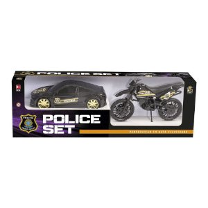 Carro e Moto Police Set - Cod. 306 BS Toys
