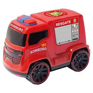Truck Bombeiro Vermelho 233E Bs Toys