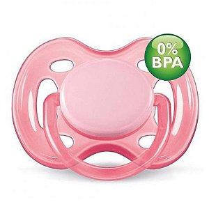 Chupeta Free Flow BPA Free 0-6 Meses Single Pack ROSA Philli