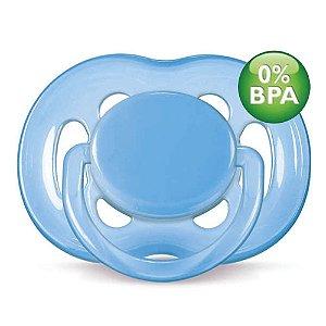 Chupeta Free Flow BPA Free 6-18 meses Single Pack AZUL Phill
