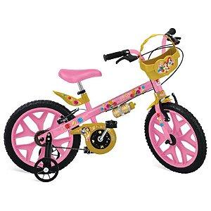 """Bicicleta 16"""" Princesas Disney Bandeirante"""