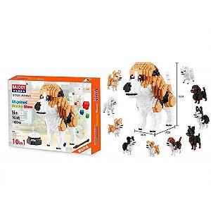 Blocos de Montar Pet Cachorros, 10 em 1 - BR881