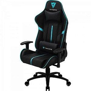 Cadeira Gamer Pro confortável BC3 Ciano ( Preto e azul )  - THUNDERX3