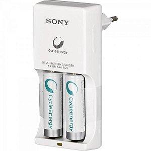 Carregador de Pilha AA 1000mAh BCG34HW2 Bivolt Branco Sony c