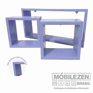 Nicho decorativo  Lílas em MDF  Móbilezen - 03 Peças