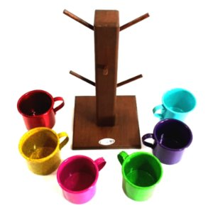 Canecas Coloridas para Uso ou Decoração Em Alumínio Cores Sortidas  - 07 Peças