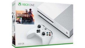 Xbox One S 500GB Branco + Battlefield 1 (Para Download) + 14 dias de Live