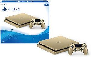 Playstation 4 Slim 1Tb Gold - PS4 Dourado Edição Limitada