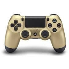 Controle Playstation 4 Slim - PS4 Dourado/Gold Led Frontal