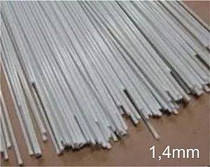 Varetas de fibra para Gaiolas, Pipas e Artesanato em geral, 1,4 mm - Cor Branca - Pacote 1 Kg
