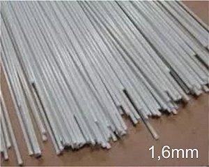 Varetas de fibra para Gaiolas, Pipas e Artesanato em geral, 1,6 mm - Branco Pacote com 1 Kg