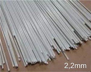 Varetas de fibra para Gaiolas, Pipas e Artesanato em geral, 2,2 mm - Branco Pacote com 1 Kg