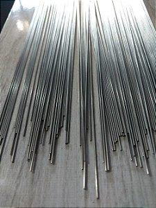 Arame de Aço Inox Polido - 1 metro x 1,0 mm - Pacote com 10 unidades.