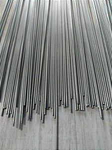 Arame de Aço Inox Polido - 1 metro x 1,2 mm - Pacote com 10 varetas.