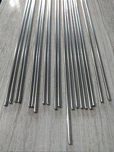 Arame de Aço Inox Polido - 1 metro  x 2,0 mm - Pacote com 10 unidades.